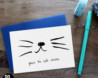 Whiskers Cat Card