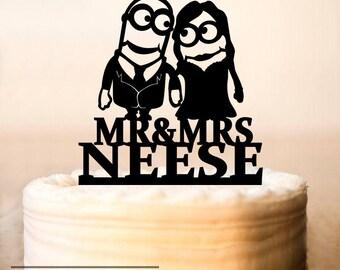 Minion cake topper Etsy