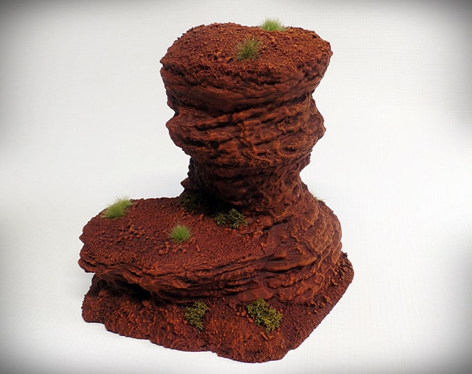Wargame Terrain - Single Spire D – Miniature Wargaming & RPG rock formation terrain - 6 inches (large)/5 inches (small) tall