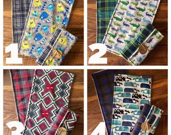 Boy Burp Cloths