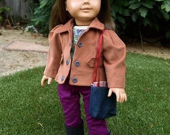 Charcoal Boots - Handmade 18 Inch Doll Boots, AG Doll Boots fit like American Girl Doll