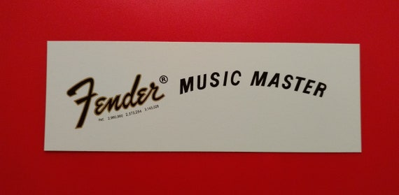 Custom 70's Fender Musicmaster Waterslide Decal, Includes two with each order.