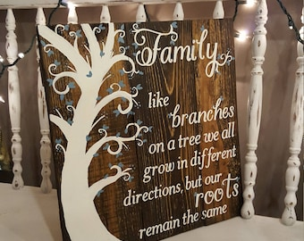 Family like branches on a tree STAIN, family tree, family roots