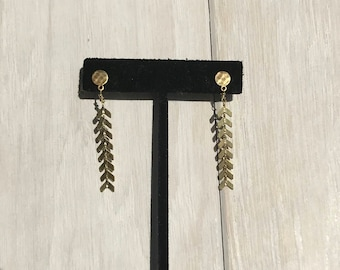 Plain Brass Hammered Dangles