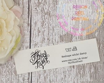 Care Labels / Bespoke Sew In Labels  (25mm x 9cm) CE, EN71/3 Approved