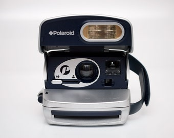 vintage Polaroid P600 Camera Silver Retro