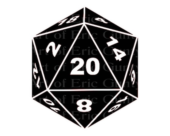 D20 Roleplay Game Dice Birthday - Edible Cake and Cupcake Topper For Birthday's and Parties! - D22910