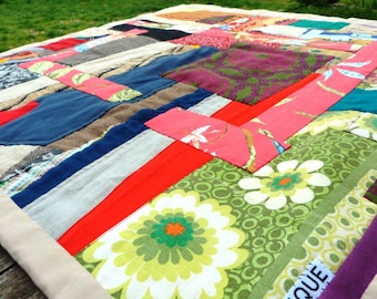 Baby blanket made from recycled materials