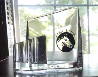 Lucite Horse Motif Pen Holder!