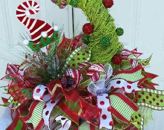 Holiday Centerpiece - Christmas Centerpiece - Christmas Arrangements - Christmas Decor Elf - Holiday Decor - Christmas Table Top Decor - Elf
