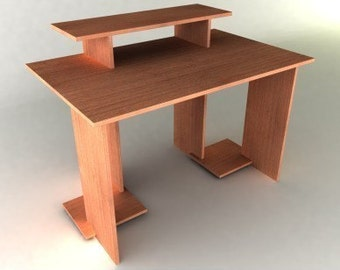 Modern Desk from One Piece of Plywood - Furniture Plan