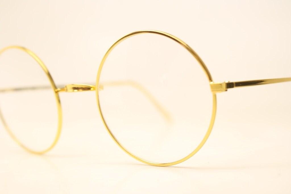 Perfectamente redondas gafas oro Marcos marcos de anteojos
