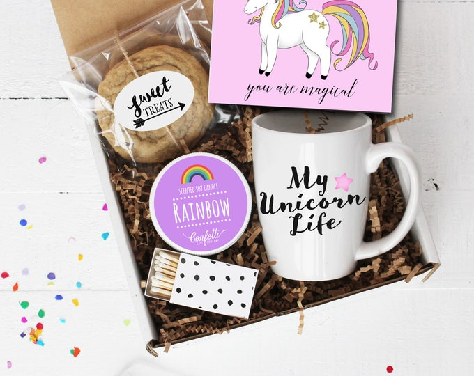You Are Magical Gift Box - Unicorn Gift | My Unicorn Life | Birthday Gift | Gift For Her |Rainbow Candle | BFF | Thinking of You |