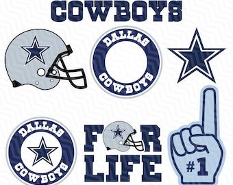 Dallas Cowboys SVG File, American Football, Football Svg files, Cricut, Silhouette Cut File, Vector Cut File, Logo, Instant Download