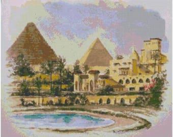 Pyramids of Egypt Cross Stitch Chart