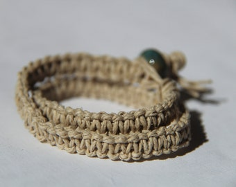 Double Wrap Hemp Bracelet - Pick The Color