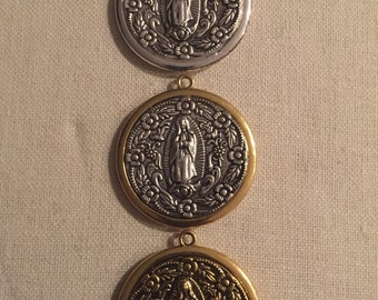 Virgin de Guadalupe Pendant - Silver, Gold and Two Tone