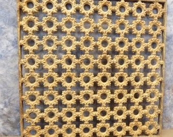 19 x 19 Cast Iron Ornamental Grate Decorative Panel Architectural Salvage a, Register Cover, Architectural Salvage Grate, Vent
