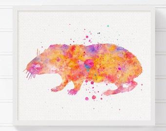 Watercolor Guinea Pig, Guinea Pig Art, Guinea Pig Print, Guinea Pig Poster, Guinea Pig Painting, Guinea Pig Illustration, Kids Room Decor