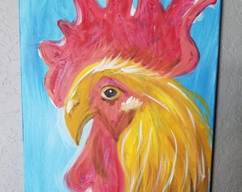 "Rooster Painting ""G' Morning"""