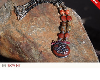 "Sale -  Tibetan Necklace - ""Endless Wisdom"""