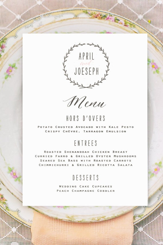 Sample Menu Cards For Wedding Reception Images Wedding Decoration