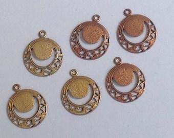 6 vintage filigree drops. - jewelry - earrings - charms