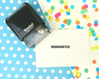 Self Inking - Small Number - Business Stamp - Royal Mail - Telephone Number - Text