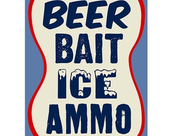 Beer Bait Ice Ammo Store Wall Decal #46697