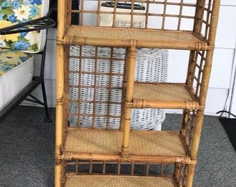 Boho Bamboo Wall Shelf