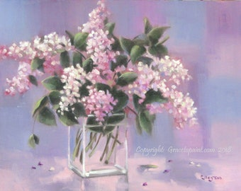 Lilac Breaths...Original Oil Painting by Maresa Lilley, SND