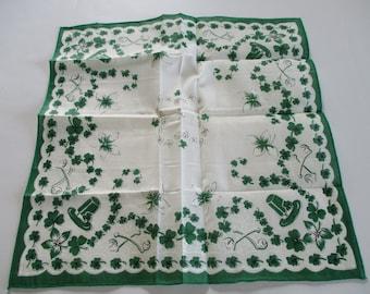 Vintage Ladies Handkerchief-Hankie-Hanky-Saint Patrick's Day-Unused