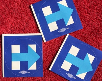 3 (THREE) Hillary Clinton : Campaign Stickers H Forward - 2016