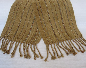 Handwoven Penuchi and Bling Rayon Chenille Scarf