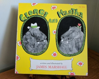 George and Martha Written and Illustrated by James Marshal, 1972, Paperback, Like New Condition, Scholastic, 8x8 Inches