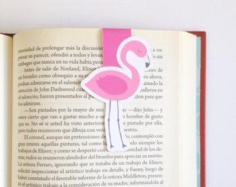 Flamingo Magnetic Bookmark - Double Sided