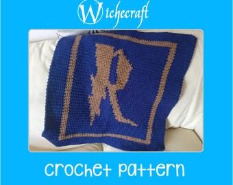 2 SIZES PDF PATTERN- Harry Potter Ravenclaw Baby Blanket Afghan Crochet/Knitting Pattern