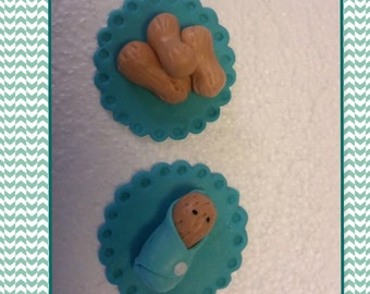 Baby Peanut Cupcake toppers 12