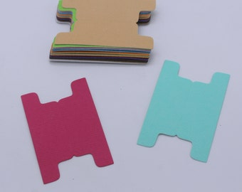 ONGLET, découpe papier cardstock, fourniture fait main, embellissement multicolore, scrapbooking, carterie, forme géométrique