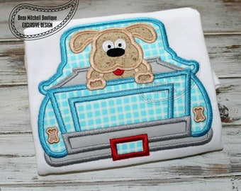 Trucks - Iron On or Sew On Embroidered Applique Trucks - Puppy, Dog, Sunflower, Plain Retro and Lab Truck
