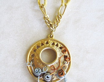 Vintage Repurposed Pendant Necklace