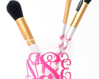 Monogrammed Brush Cup