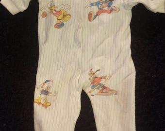 Vintage Disney character sports infant sleeper