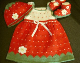 Strawberry dress as a set, Strawberry