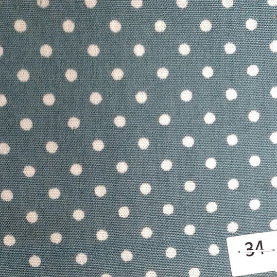 High quality cotton poplin, 3mm greyish green polka dots no34