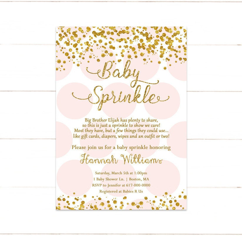 Great Baby Girl Sprinkle Invitations Images - Invitation Card Ideas ...