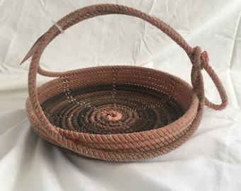 A23- pink red Lariat Rope Basket