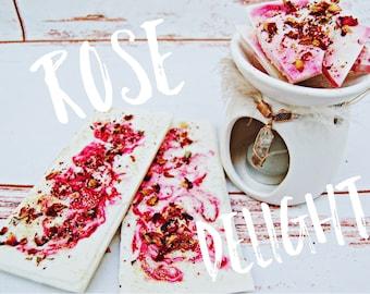 Peppermint Rose Bark Brittle Bars