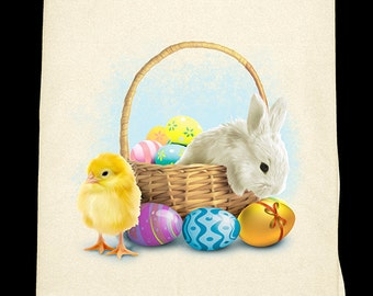 Easter Basket Flour Sack Towel