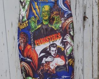 Horror Movie Pencil Skirt - Size 12 14 - Bodycon Vampire Werewolf Frankenstein